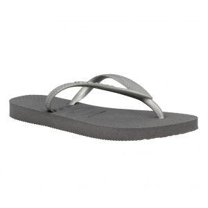 Havaianas Slim - Tongs - Femme - Gris (Steel Grey 5178) - 31/32 EU (29/30 Brazilian)
