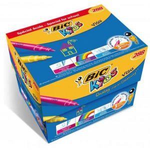 Bic Classpack de 248+40 feutres Visa pointe fine, capuchon ventilé, encre lavable. Ne sèche pas 3 mois.