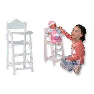 Mgm Chaise haute en bois pour poupon