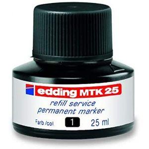 Edding E-MTK 25 Encre de recharge Noir pour Marqueur permanent