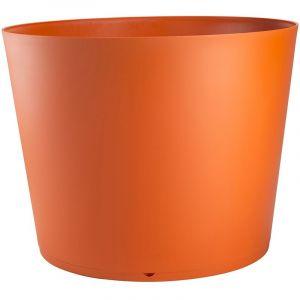 Grosfillex Pot de fleur design Tokyo 50 Diam.48 H.33 - Orange - Extérieur - Résistant à la chaleur