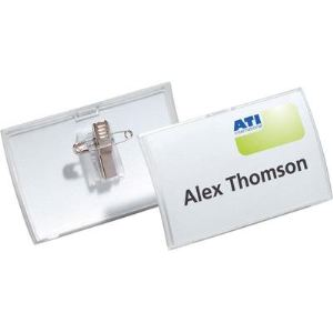 Durable 8211-19 - 25 badges Click Fold avec pince combi (75 x 40 mm)