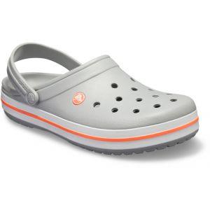 Crocs Crocband - Sandales - gris/orange 41-42 Sandales Loisir