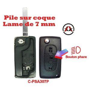 Neoriv Coque de clé télécommande adaptable + lame PSA307P