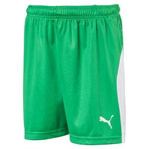 Puma Short de foot LIGA pour enfant, Vert/Blanc, Taille 164