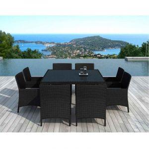 Delorm Design SD8216 Noir - Table et Chaises de Jardin