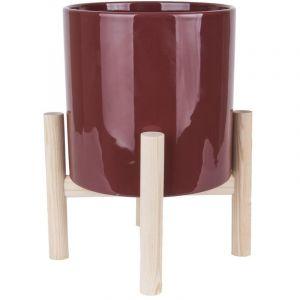 Present time Cache-pot sur pieds Trestle - Diam. 20 cm - Rouge