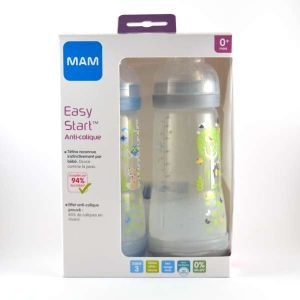 Mam Easy Start 320 ml - 2 biberons anti-coliques débit 3