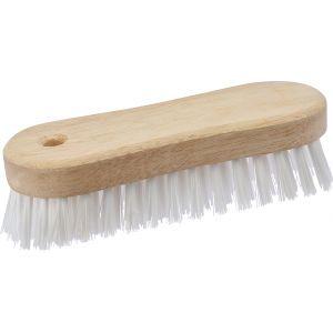 Milbox Brosse à laver nylon monture bois - Longueur 180 mm