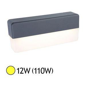Vision-El Applique murale LED COB 12W (110W) IP65 Finition gris Blanc chaud 3000°K