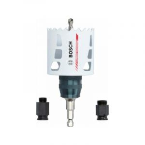 Bosch 2608594267 Kit de conversion pour scie sauteuse PC en métal dur avec forets pilote et adaptateur Power-Change Plus Ø 68 mm