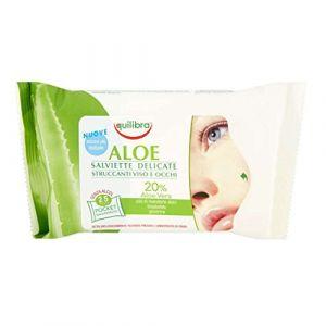 Equilibra Aloe Salviette Delicate Struccanti Viso-Occhi 25 Pz