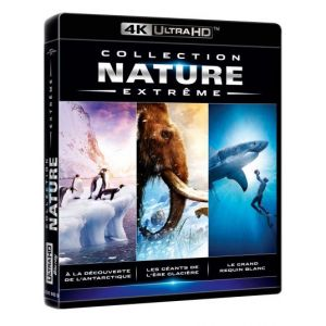 Collection Nature Extreme : À la découverte de l'Antarctique + Les géants de l'ère glacière + Le grand requin blanc [4K Ultra HD] [DVD]