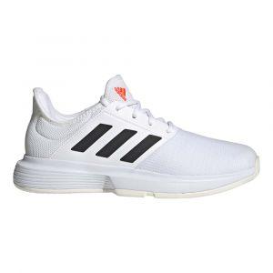 Adidas GameCourt W, Chaussure de Piste d'athltisme Femme, Blanc/Noir/Rouge