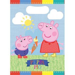 8 sacs à surprise de fête Peppa Pig