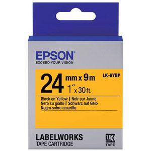 Epson LabelWorks LK-6YBP - bande d'étiquettes Noir sur jaune - C53S656005