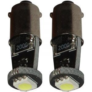 Aerzetix : 2x ampoule T4W T5W BA9s 12V LED SMD blanc effet xénon éclairage intérieur plaque d'immatriculation seuils de porte plafonnier pieds lecteur de carte coffre compartiment moteur
