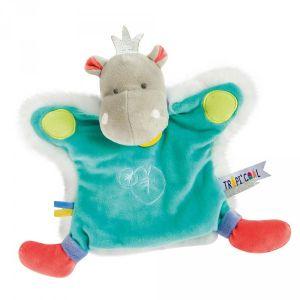 Doudou et Compagnie Marionnette Hippopotame Tropi'cool