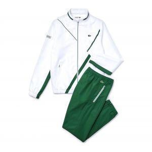 Lacoste Sport WH2045 Pantalon de survêtement, Blanc/Vert, XL Homme