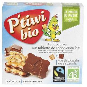 Le Moulin du Pivert P'tiwi Bio Chocolat au lait 125g