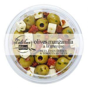 L'Atelier Blini Olives vertes à la grecque