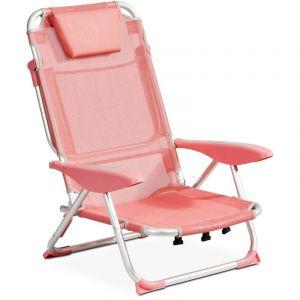 INNOV'AXE Clic clac des plages fauteuil - Corail - CLIC CLAC DES PLAGES BY