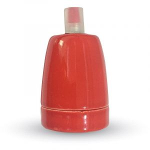 V-TAC Culot porcelaine E27 rouge