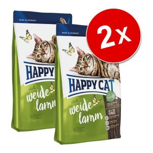 Happy cat Adult - Croquettes agneau des pâturages pour chat - 10 kg