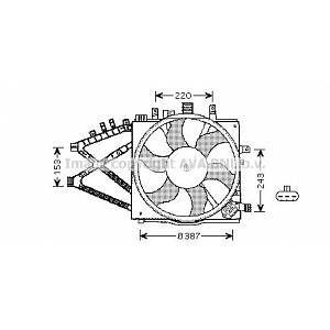 Ava Quality Cooling Ventilateur (refroidissement moteur) OPEL CORSA (247OL7521)