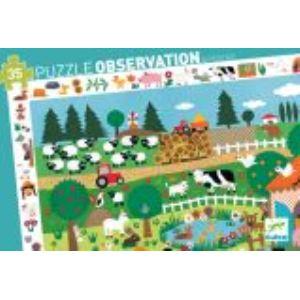 Djeco Puzzle observation: La ferme 35 pièces