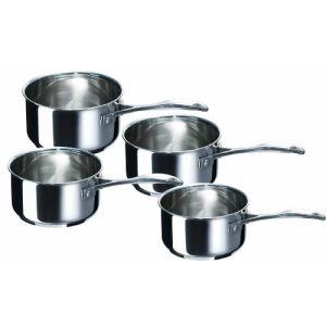 Beka 12066984 - 4 casseroles Chef en inox (14/16/18/20 cm)