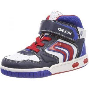 Geox Jr Gregg B, Baskets Hautes garçon, Bleu (Navy/White C4211), 32 EU