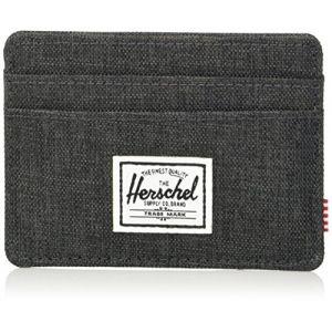 Herschel Portefeuilles Charlie Rfid - Black Crosshatch - One Size