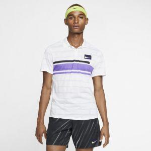 Nike Polo de tennis Court Advantage Homme - Blanc - Taille XL