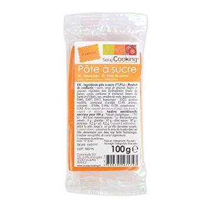Scrapcooking Pâte à sucre Orange (100 g)