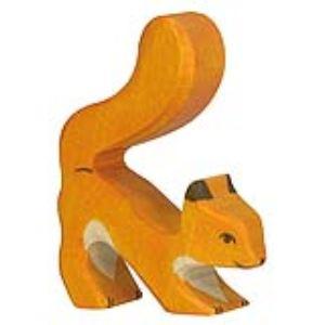 Holztiger Figurine Écureuil orange en bois
