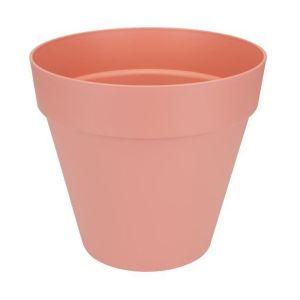 Loft URBAN Pot de fleur rond - 30 cm - Pêche - Livré avec réservoir d'eau - Fabriqué en plastique - Facile à nettoyer - Résiste aux chocs