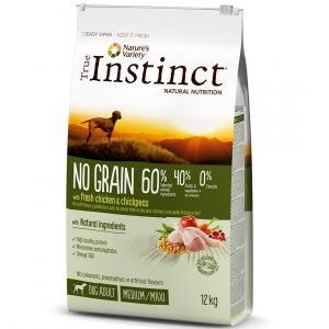 True instinct No Grain Medium Maxi Adult Chicken - Sac 2 kg