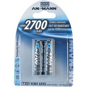 Ansmann 2 piles NiMH Mignon AA 2700mAh