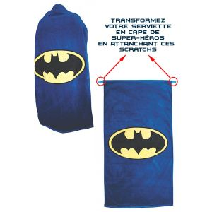 HMB Serviette Batman logo classique convertible en cape