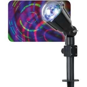Projecteur laser aux motifs circulaires Multicouleur 3 LED