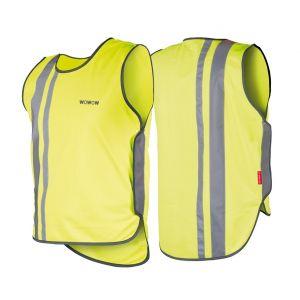 Wowow Gilet de sécurité Light Wear 2.0 adulte Jaune/Réfléchissant - L