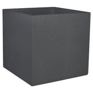 Eda Plastiques Pot carré Graphit anthracite 57 L Eda
