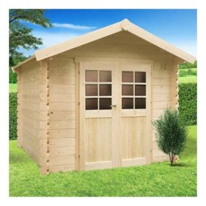 Solid GERA 5,12m², Toiture Toit standard (roofing), Plancher Non, Abri bûches Oui, Armoire adossée 2 portes