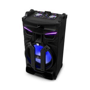 """Auna Silhouettes Sono portable 600W - Enceinte 18"""" - 2x USB / 2x SD / Bluetooth - Tuner radio FM - Eclairage LED multicolore - Noire"""
