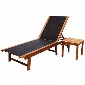 VidaXL Ensemble de deux chaises longues Bois d'Acacia