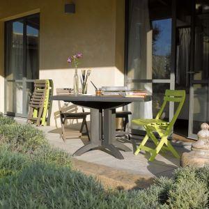 Grosfillex Vega - Table de jardin rectangulaire pliante en résine 118 x 77  x 72 cm - Comparer avec Touslesprix.com