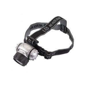 Silverline 868718 - Lampe frontale LED / krypton 6 LED