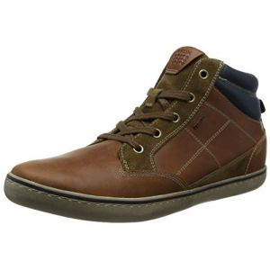 Geox U Box C, Baskets Montantes Homme, Marron (Browncotto/Brown), 43 EU
