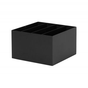 Ferm Living Bac compartimenté / Pour jardinière Plant Box sur pied noir en métal